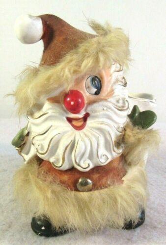 Vtg Lee Wards Dexters Santa Happy Planter Christmas Exclusive Decoration Ceramic