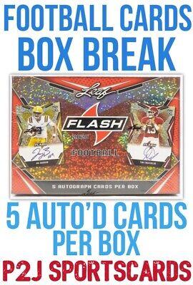 Leaf 2020 FLASH FOOTBALL CARD Box BREAK?1 RANDOM TEAM?NFL?Break 3419