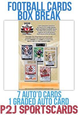 Leaf 2020 Valiant JUMBO FOOTBALL CARD Box BREAK?1 RANDOM TEAM?NFL?Break 3402