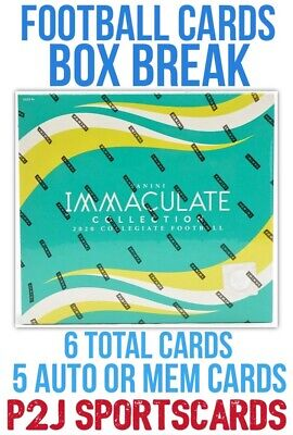 2020 IMMACULATE COLLEGE FOOTBALL CARD HOBBY Box BREAK 1 RANDOM TEAM Break 4204
