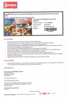 UNLIMITED Entry to Dreamworld, WhiteWater World and Skypoint Angle Park Port Adelaide Area Preview
