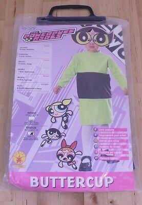2000 Cartoon Network Powerpuff Girls Toddler Buttercup Child Halloween Costume - Buttercup Powerpuff Halloween Costume