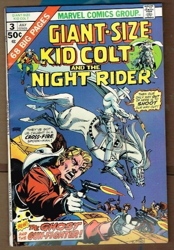 Giant-Size Kid Colt and Night Rider Marvel Comic #3