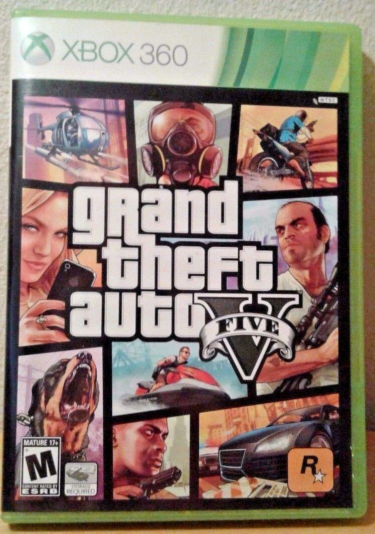 Xbox 360 Games - Grand Theft Auto V 5 (Microsoft Xbox 360, 2013) GUARANTEED - Free Shipping
