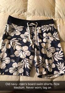 New, never worn men's swim shorts