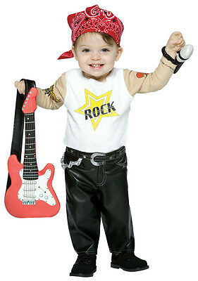 Rock Star Boy Future Biker Cute Dress Up Halloween Baby Infant Child Costume