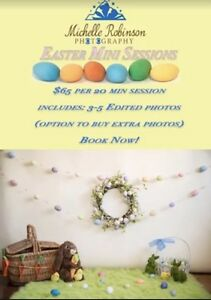 Easter photos $65 a session