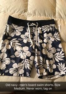 New, never worn men's swim shorts