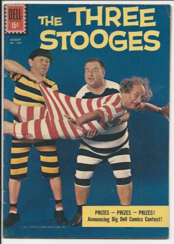 1961 Dell Four Color #1187 The Three Stooges F/VF