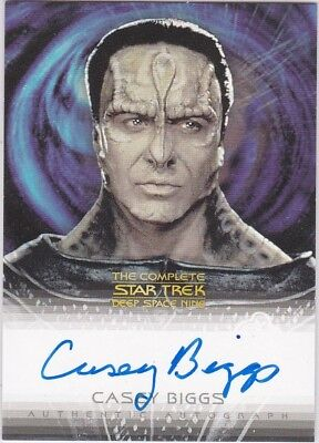 STAR TREK COMPLETE DEEP SPACE NINE DS9 A16 CASEY BIGGS AS DAMAR AUTOGRAPH