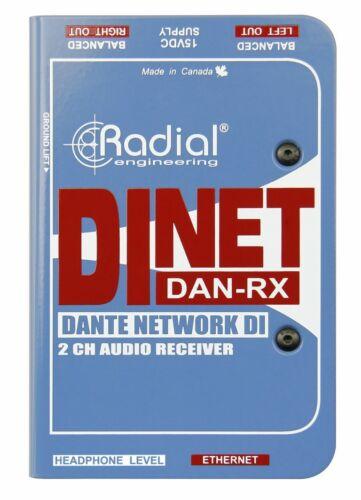 Radial DiNET DAN-RX, 2-Channel Dante Audio Sound Network Receiver