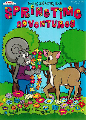 Springtime Activity - Coloring & Activity Book - SpringTime Adventures -