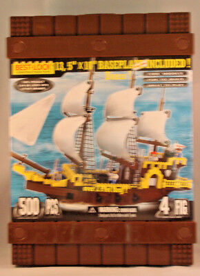 Best-Lock Construction Toys Pirate Ship - 500 Pieces - 4 Figures -