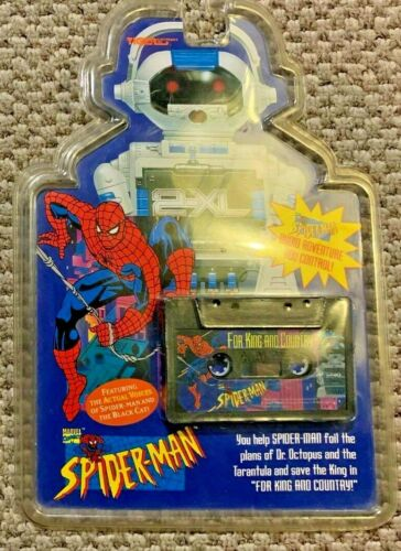 TIGER ELECTRONICS 2XL TALKING ROBOT CASSETTE TAPE SPIDERMAN FOR KING AND COUNTRY