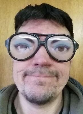 WOMENS Female Fake Funny Eyes Eyeglasses Mask Costume Disguise Joke Gag Glasses