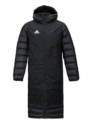 (Adidas Winter 18 Long Down Coat (BQ6590) Hooded Training Long Padded Jacket)