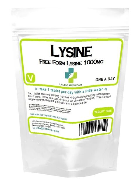 LYSINE 1000 mg **200 tablets** 4PACK (L-Lysine) for Cold Sores, herpes, shingles