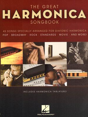 The Great Harmonica Songbook 45 Titel Noten für Mundharmonika Gitarre Gesang