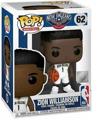 Funko Pop! NBA #62 Zion Williamson Brand New Toy Figure IN STOCK New Orleans