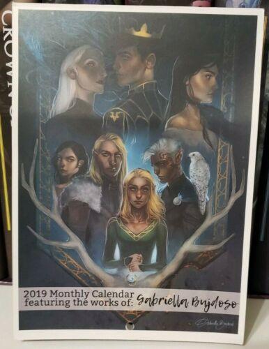 YABookART 2019 monthly Calendar with artwork from Gabriella Bujdoso. FaeCrate.