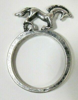Silver Tone 3D Horse Ring Sz 6.5 Pony Stallion Unicorn Dimensional Animal - Unicorn Ring