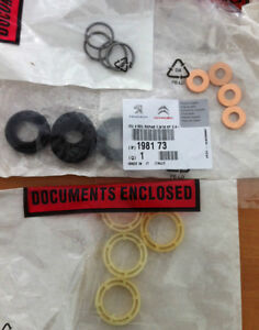 genuine peugeot 207 307 1 6 hdi injector washer seal and protector set 4 ebay. Black Bedroom Furniture Sets. Home Design Ideas