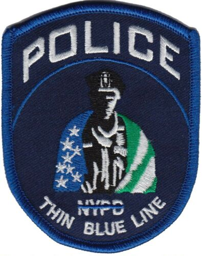 NYPD , NEW YORK Police patch (THIN BLUE LINE)