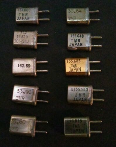 Various Frequency Scanner Receive Crystals
