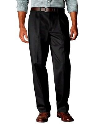 Dockers Mens The Best Pressed Signature Khaki Pants Relaxed Fit Pleated