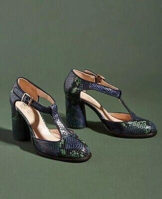 NEW Anthropologie Lenora Mietta T-Strap Heels Size 38