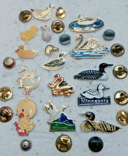 15 Ducks Brooch Lapel Pins Tie Tack pin lot