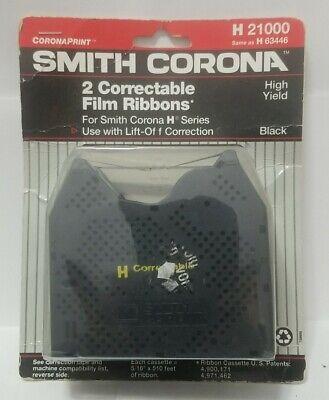 2 Pack New Genuine Smith Corona H Series 21000 Correctable Typewriter Ribbons