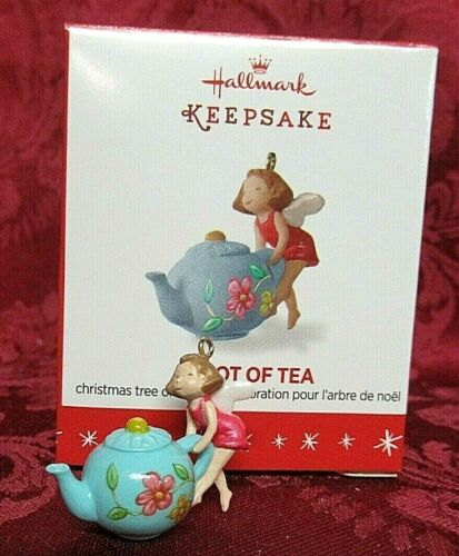 Hallmark 2016 Miniature Ornament ~ A Spot Of Tea
