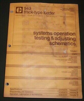 Cat Caterpillar 943 953 Track Type Loader Op Test Service Shop Repair Manual