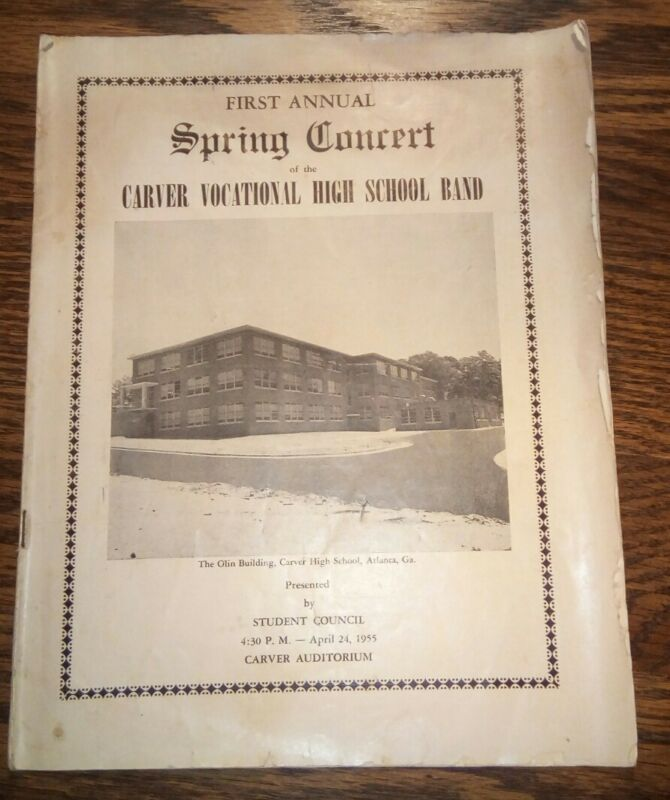 1955 George W. Carver Vocational High School Band Concert Program - Atlanta