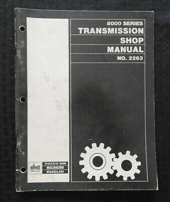 Vme Volvo 8000 Serie Getriebe Service Geschäft Reparatur Handbuch Clean