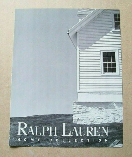 Ralph Lauren Home Collection 7-page 1990s Ad Vintage/Magazine/Print/Fashion