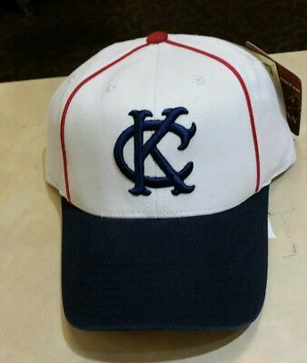 arrives f439c 1d42a Vintage Style Kansas City Monarchs Royals Adjustable Hat American Needle