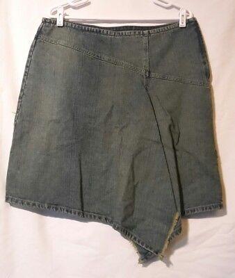 Women's Newport News Jeanology Denim Blue Jean Skirt Size 16 Causal Fashion