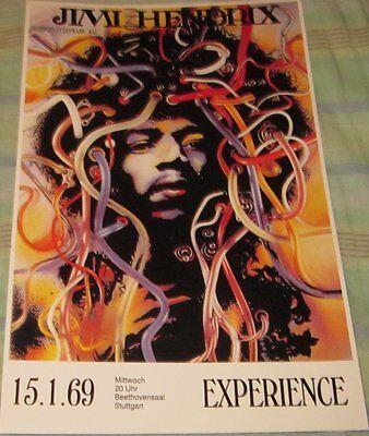 JIMI HENDRIX EXPERIENCE 1969 STUTTGART GERMANY REPLICA CONCERT POSTER