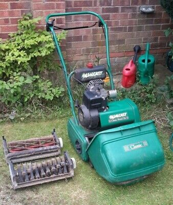 Qualcast 35s Petrol Lawnmower with fine cut blade and scarifier