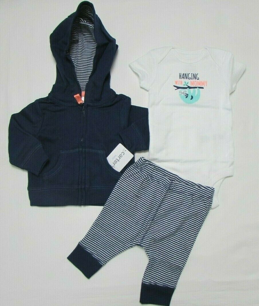 Baby boy clothes, 3 months , Carter's  Baby Basics 3 piece s