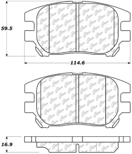 Disc Brake Pad Set fits 2002-2003 Lexus RX300 CENTRIC