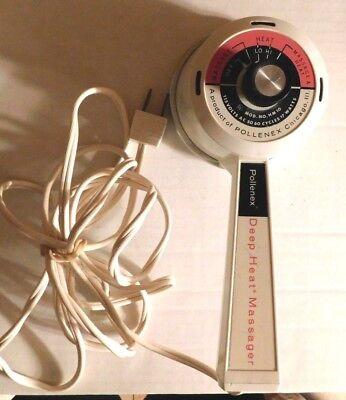 Used, Vintage Pollenex HM-10 Handheld Electric Deep Heat Vibrating Massager for sale  Demotte