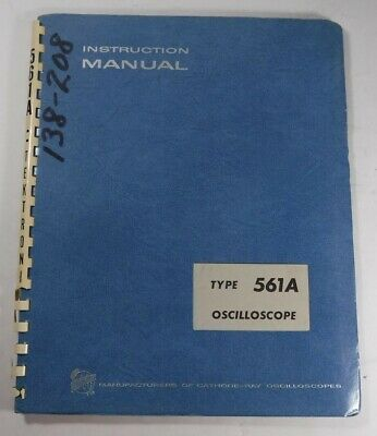 Tektronix Type 561a Oscilloscope Instruction Manual 070-342