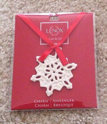 "FREE S&H! Lenox MINI Pierced Snowflake Charm Ornament 2.5"" Brand New In Box"