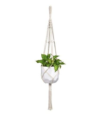 Mkono Macrame Plant Hangers Indoor Outdoor Hanging Planter Basket Cotton Rope wi Hanging Basket Hangers