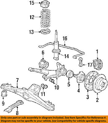 BMW OEM 87-89 635CSi Rear Suspension-Axle Carrier 33311132741