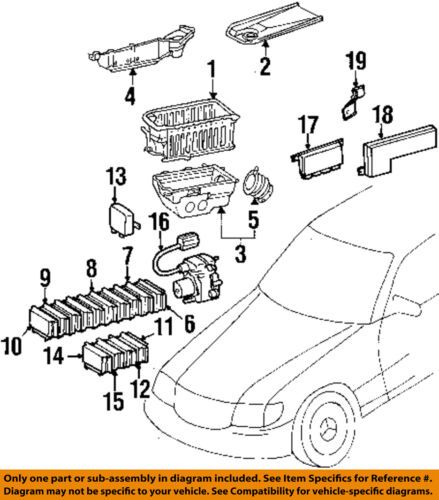 Mercedes Oem 94 95 S420 Electrical Module 1405456932