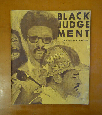 Black Judgement By Nikki Giovanni 1973 First Edition 8th Printing Poetry history
